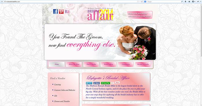 Midwest Bridal Affair Web Site Design