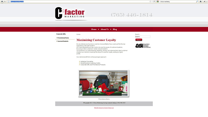 C-Factor Promotional Web Site Design