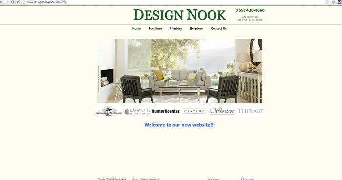 Design Nook Interiors Web Site Design