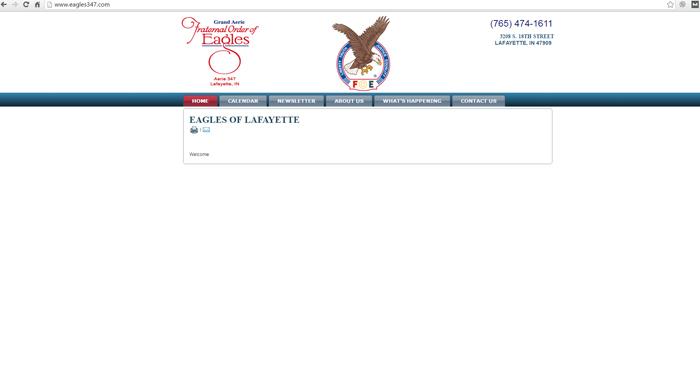 Fraternal Order of Eagles Web Site Design