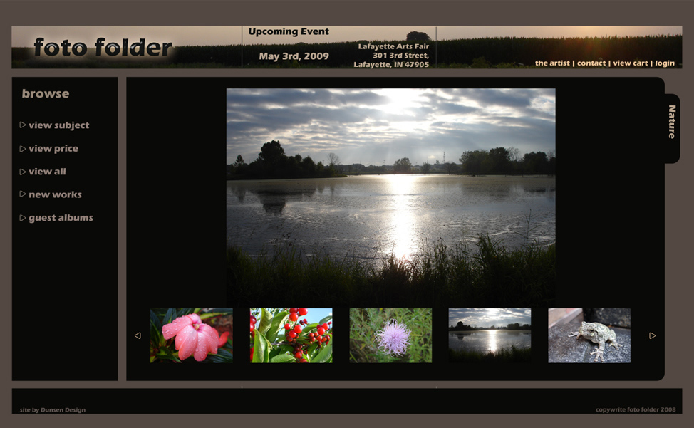 Foto Folder Web Site Design Template