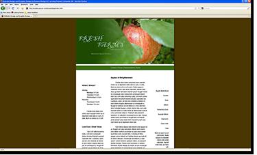 Fresh Farms Web Site Design Template