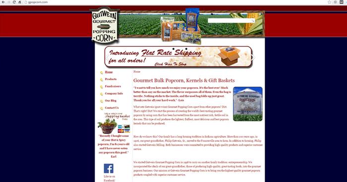 Gutwein Popcorn Web Site Design