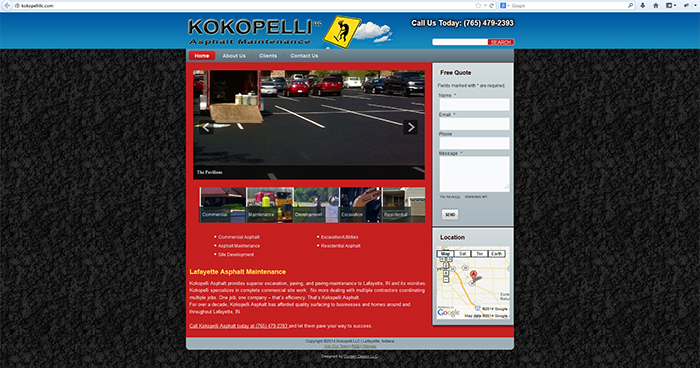 Kokopelli Asphalt Maintenance Web Site Design