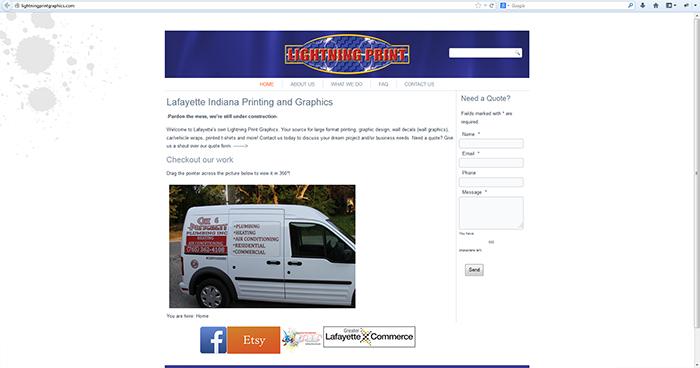 Lightning Print Graphics Web Site Design