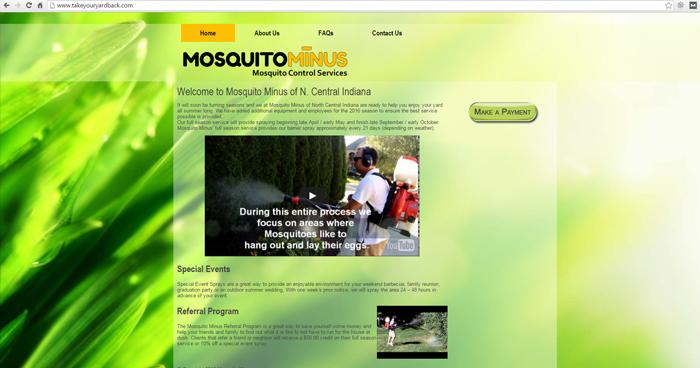 Mosquito Minus Web Site Design