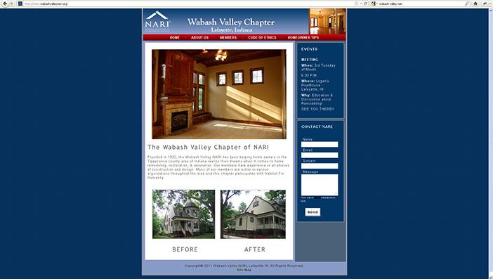 Wabash Valley NARI Web Site Design