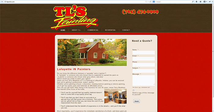 T.L.'s Painting Web Site Design